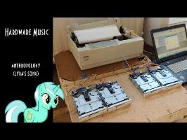 AwkwardMarina - Anthropology (Lyra's Song) on Dot matrix printer and Floppy Drives