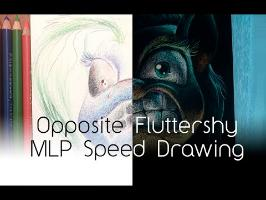 Opposite Fluttershy Inverse Color Pencil (MLP Speed Drawing)