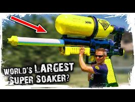 We Made Mark Rober's World's Largest Super Soaker!