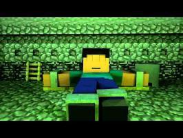 (-18) Herobrine tue Steve - Animation d'halloween
