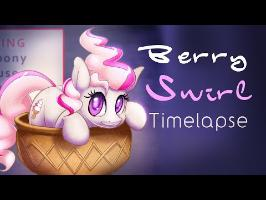 Berry Swirl (Art Timelapse)