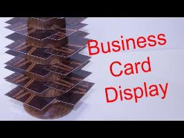 DIY Business Card Display / Woodturning Project