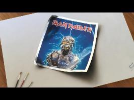 Hommage à Iron Maiden et Derek Riggs: EDDIE - Huile et acrylique sur toile