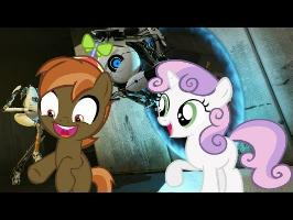 Button Mash and Sweetie Belle Play (Portal 2