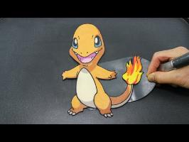 Pokemon Charmander Pancake - Flip and Find a New Pokemon!