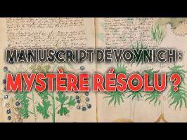 Le mystère de Voynich ENFIN RÉSOLU ?