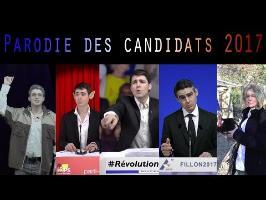 Parodie des candidats aux présidentielles 2017 (Fillon MLP Mélenchon Hamon Macron)