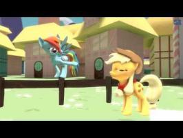 [SFM] Applejack launches Rainbow Dash
