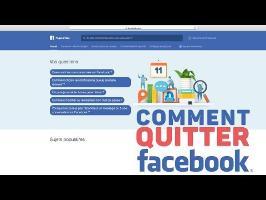 Comment quitter Facebook - Tutoriel