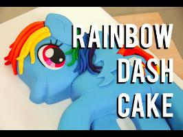How To Cake A RAINBOW DASH MY LITTLE PONY CAKE! Vanilla cake and RAINBOW buttercream!