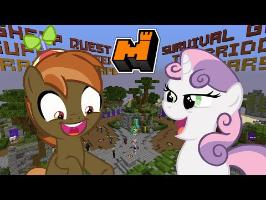Button Mash and Sweetie Belle Play (Minecraft: Mineplex Mini Games)