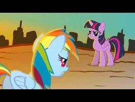 Twilight vs. Rainbow Dash Random Fight Scene