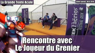 Rencontre avec Frédéric Molas & Sébastien Rassiat (Le Joueur du Grenier) - Geek Faëries 2018