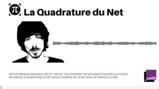 Arthur dans le journal de 22H du 20 juin sur France Culture à propos de la loi Avia