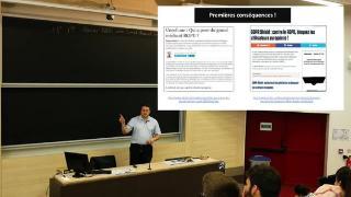 Conférence - Données personnelles et vie privée ce qui va changer avec le RGPD, par Lionel Maurel