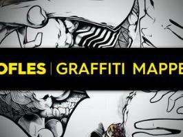 Le graffiti de l'artiste Sofles prend vie pendant la nuit